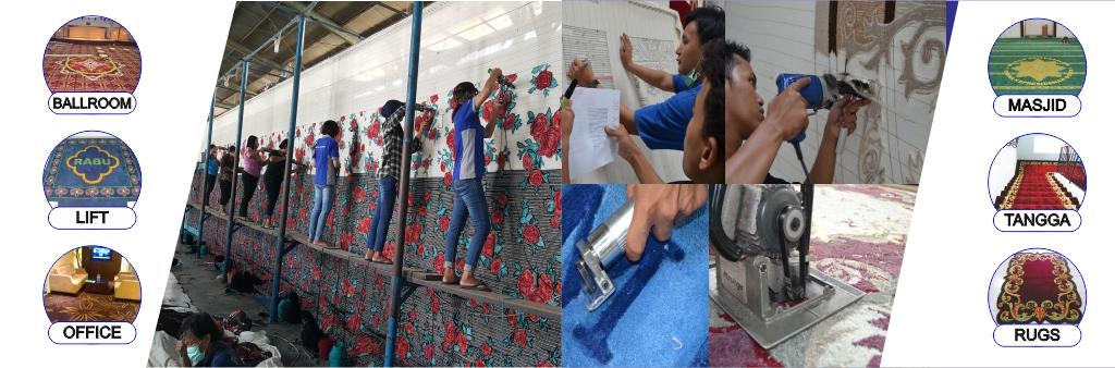 proses pembuatan karpet custom