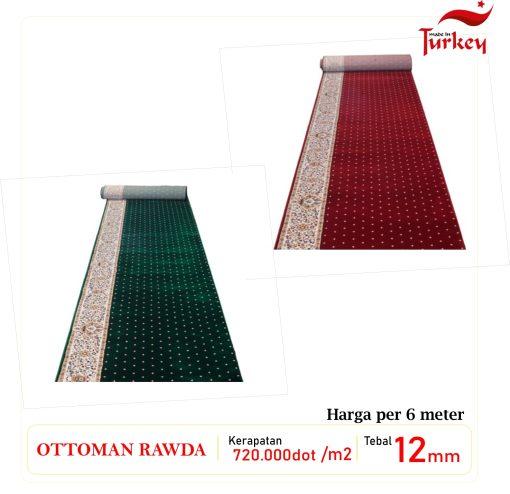 Karpet Masjid Ottoman Roudhoh